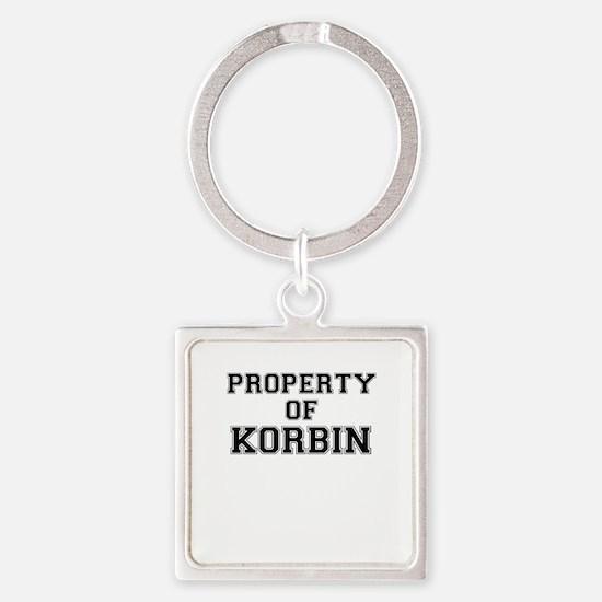 Property of KORBIN Keychains