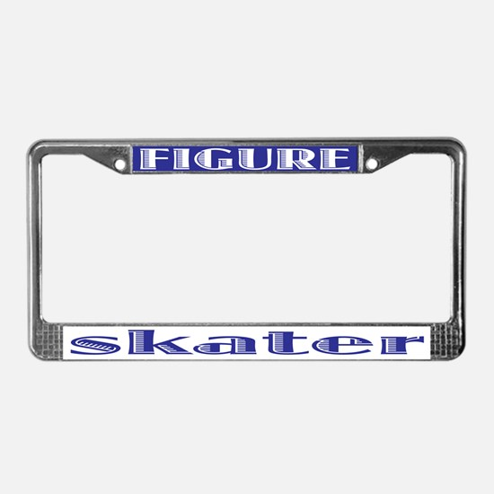 Figure Skater License Plate Frame