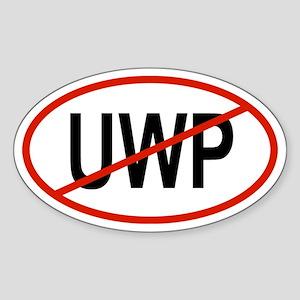 UWP Oval Sticker