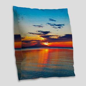 Evening Sunset Burlap Throw Pillow