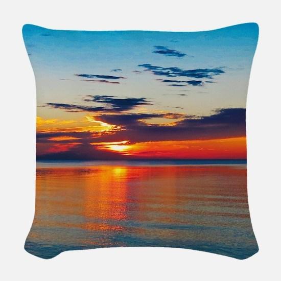 Evening Sunset Woven Throw Pillow