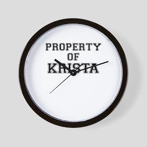 Property of KRISTA Wall Clock