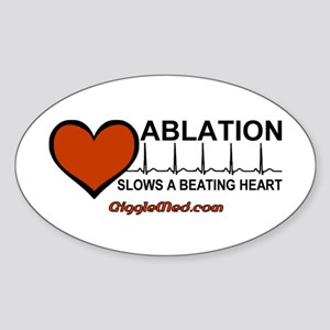 Ablation Slows Beating HeartT Oval Sticker