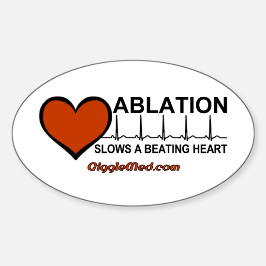 Ablation Slows Beating HeartT Oval Decal