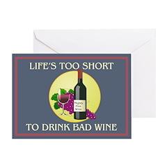 No Bad Wine - Birthday Card