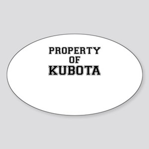 Property of KUBOTA Sticker