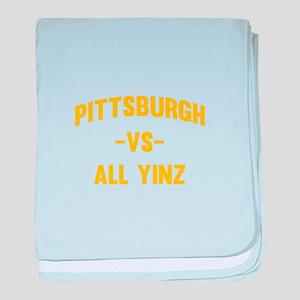 Pittsburgh Vs Yinz baby blanket