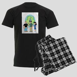 Big Amoeba III Men's Dark Pajamas