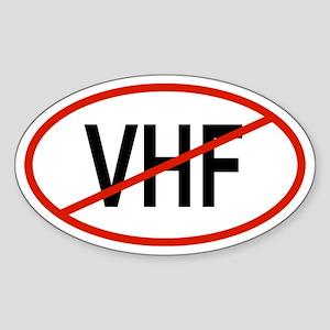 VHF Oval Sticker