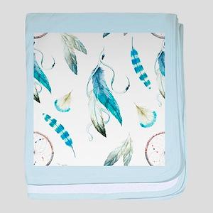 Dreamcatcher Feathers baby blanket