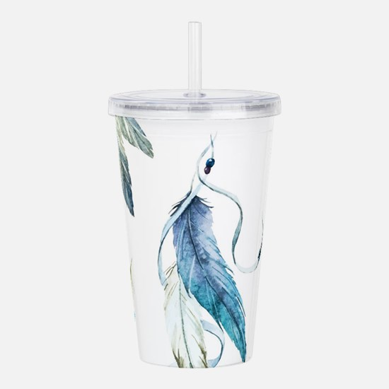 Dreamcatcher Feathers Acrylic Double-wall Tumbler