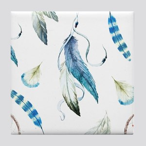 Dreamcatcher Feathers Tile Coaster