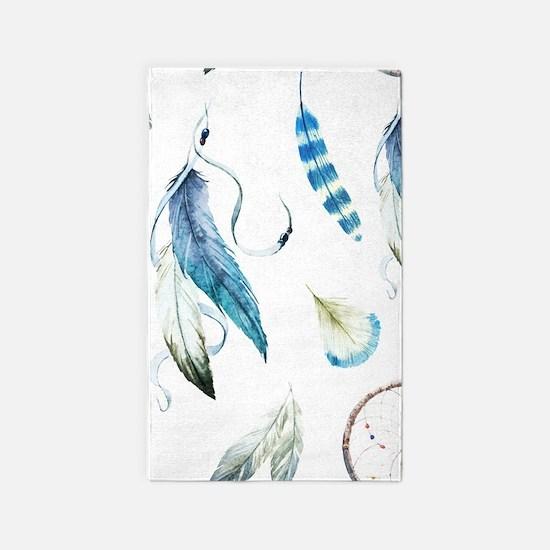 Dreamcatcher Feathers Area Rug