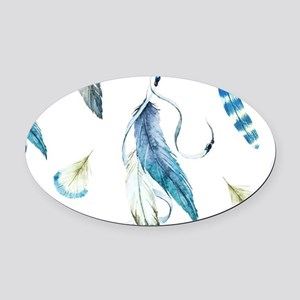 Dreamcatcher Feathers Oval Car Magnet