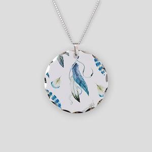 Dreamcatcher Feathers Necklace Circle Charm