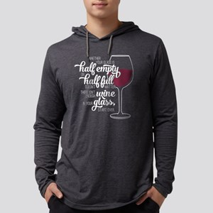 Glass Half Empty Or Full Mens Hooded Shirt