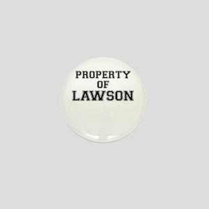 Property of LAWSON Mini Button