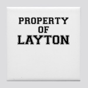 Property of LAYTON Tile Coaster
