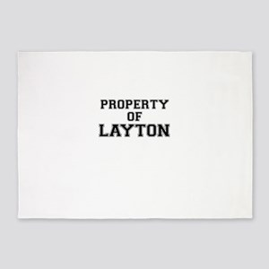 Property of LAYTON 5'x7'Area Rug