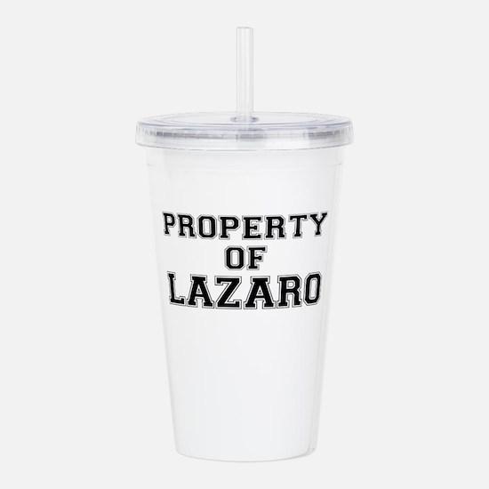 Property of LAZARO Acrylic Double-wall Tumbler