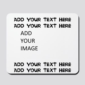 Custom Text and Image Mousepad