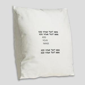 Custom Text and Image Burlap Throw Pillow