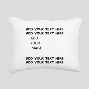 Custom Text and Image Rectangular Canvas Pillow