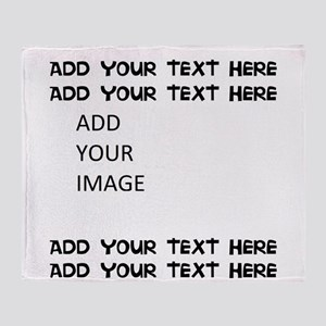 Custom Text and Image Throw Blanket