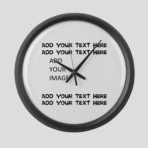 Custom Text and Image Large Wall Clock