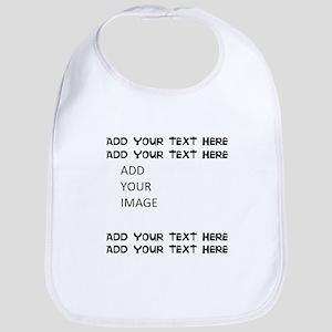 Custom Text and Image Baby Bib