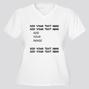 Custom Text and Image Plus Size T-Shirt
