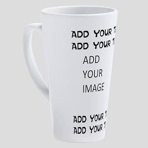 Custom Text and Image 17 oz Latte Mug