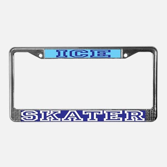 Ice Skater License Plate Frame