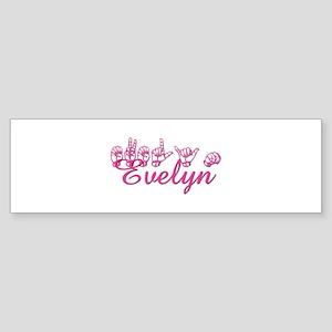 Evelyn Bumper Sticker