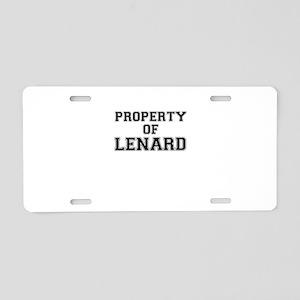Property of LENARD Aluminum License Plate