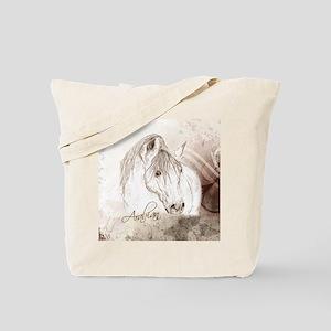 Grey Arabian Stallion Tote Bag