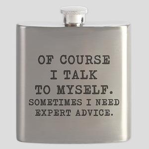 Of Course I Talk To Myself mug Flask