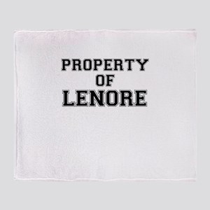 Property of LENORE Throw Blanket