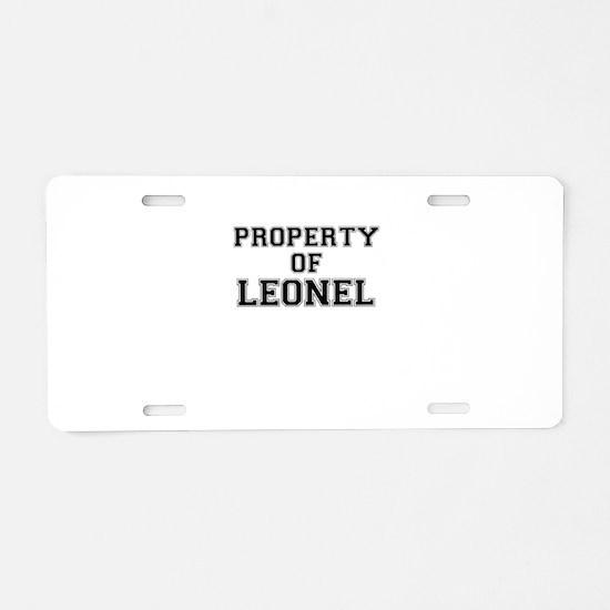 Property of LEONEL Aluminum License Plate
