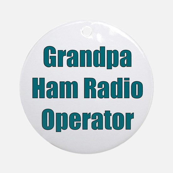 Grandpa Ham Radio Operator Ornament (Round)