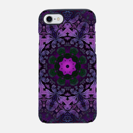 abstract bohemian purple man iPhone 8/7 Tough Case