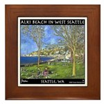 Alki Beach, West Seattle Framed Tile
