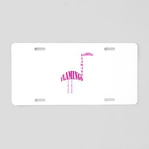 Pink vintage typography Fla Aluminum License Plate