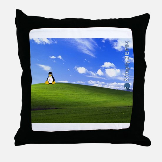 SimplyMEPIS Linux Throw Pillow