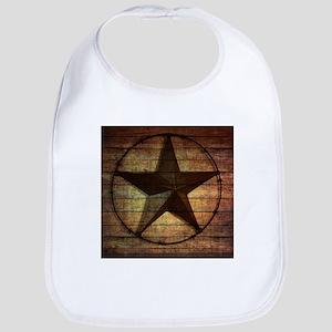 barn wood texas star Baby Bib