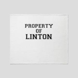 Property of LINTON Throw Blanket