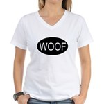 Woof Women's V-Neck T-Shirt