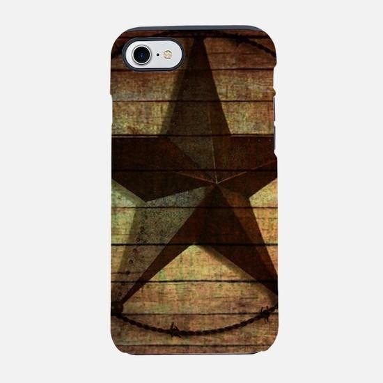 barn wood texas star iPhone 8/7 Tough Case