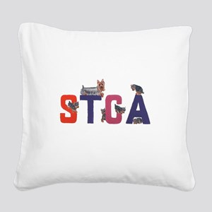 Color Logo Square Canvas Pillow