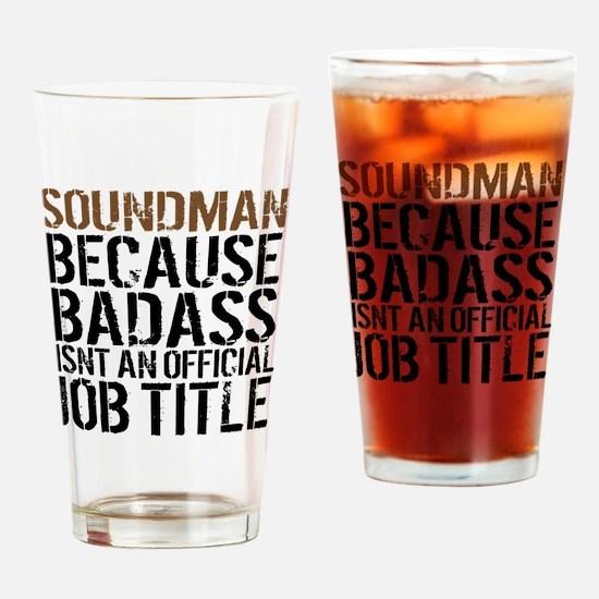 Soundman Drinking Glass